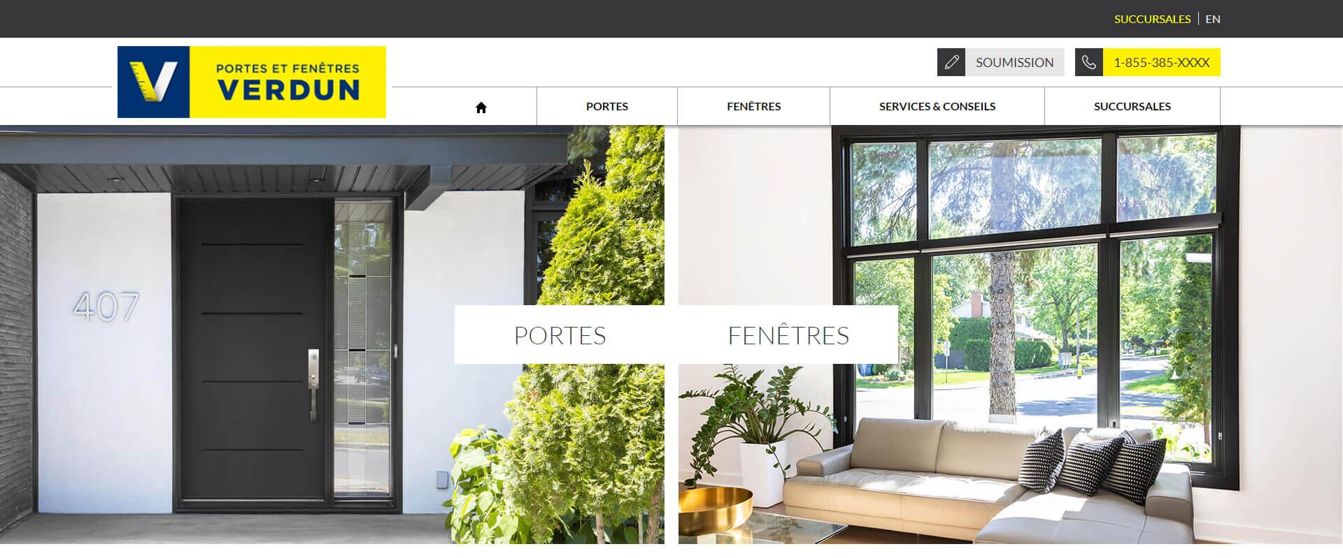 portes et fen tres verdun portes fen tres portes de. Black Bedroom Furniture Sets. Home Design Ideas
